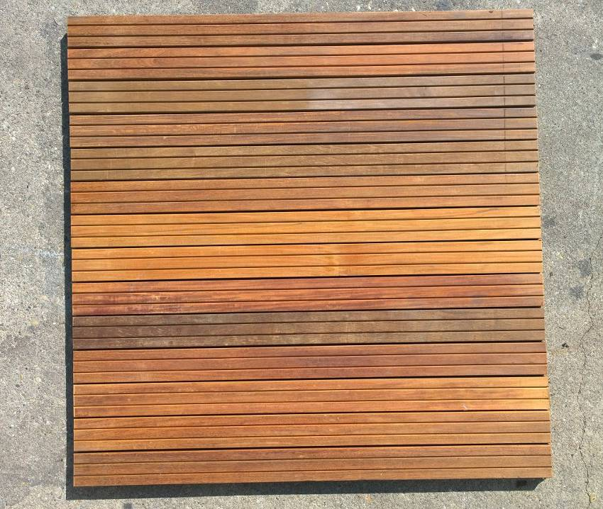 caillebotis en bois ipe 43 x 43