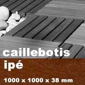 Dalle Caillebotis En Bois Exotique Ipe 1000 X 1000 X 38 Mm Promo
