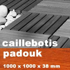 Caillebotis en exotique en Padouk