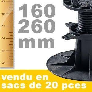 Plot de terrasse réglable - 140 à 230 mm