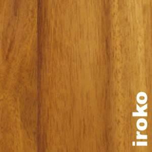 Parquet massif planchette Iroko - 10 x 60 x 300 mm - brut