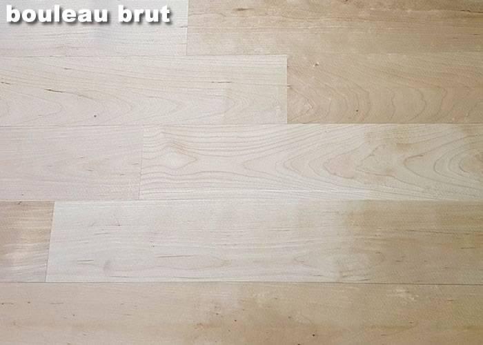 Parquet massif Bouleau Blanc Nordique Premier / Rustique - 23 x 90 mm - Brut