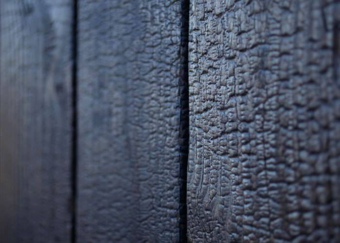 Yakisugi - Lambris en bois brûlé épicéa - 9 x 95 x 2000 mm - Croco Mat