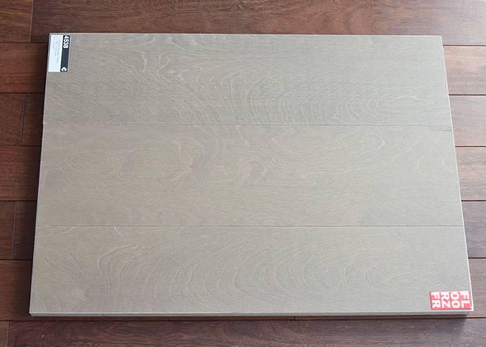 Contrecollé Bouleau Taupe - 12 x 180 x 1500 mm - verni