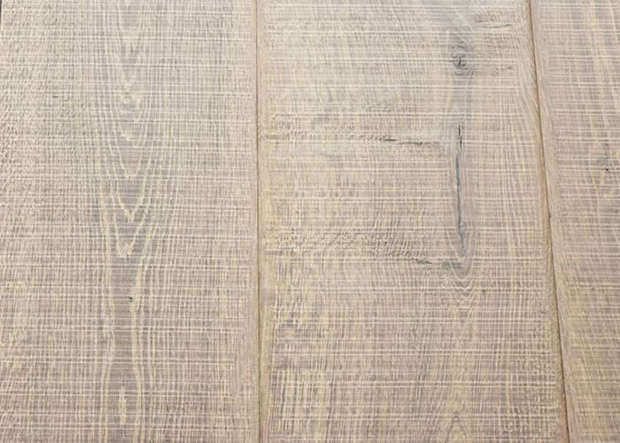 Parquet Contrecollé Chêne Rustique - 18 x 220 x 2200 mm - Huilé brun-gris - ultra mat