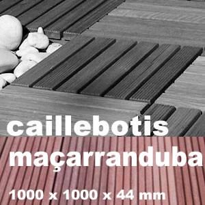 Caillebotis en exotique en Macaranduba ou Balata rouge