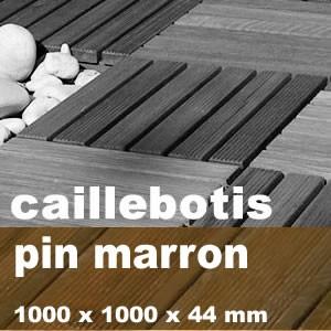 Caillebotis résineux + feuillus en Pin Maritime