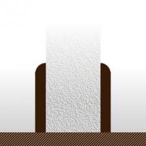 Plinthes Teck - 10 x 70 mm - bord rond - brut