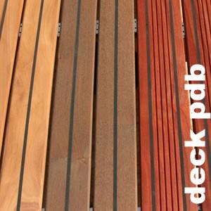 "Lames de terrasse ""pont de bateau"" en Macaranduba ou Balata rouge"
