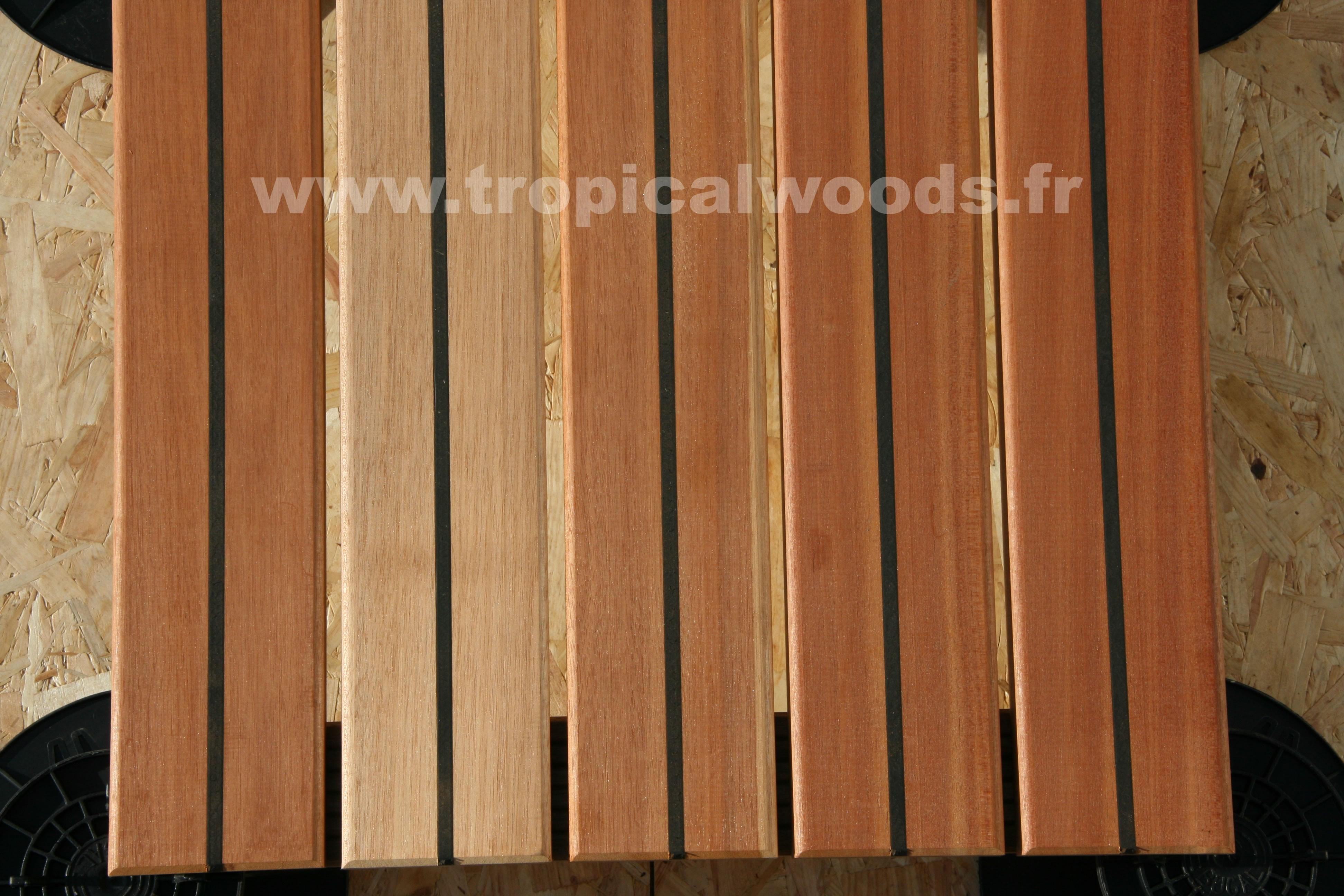 Terrasse - Lames parquet massif Macaranduba Pont de Bateau - 22 x 120 mm