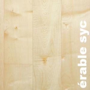 Parquet contrecollé Erable Sycomore - 10 x 90 mm - Verni