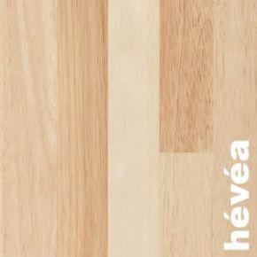 Parquet contrecollé Hévéa PR - 14 x 190 mm huilé, 3 frises