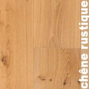 Parquet Contrecollé Chêne Rustique - 12 x 180 mm - brut - brossé