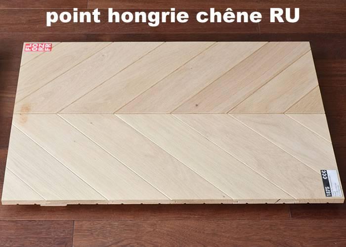 Parquet massif Chêne Rustique Point Hongrie - 16 x 83 x 680 mm - brut - PROMO