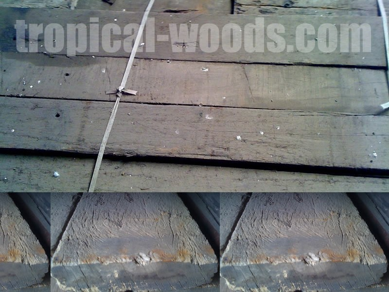 Plancher wagon de récupération Chêne WF Trié - 45 x 180 x 2700 mm - Lot 10 planches