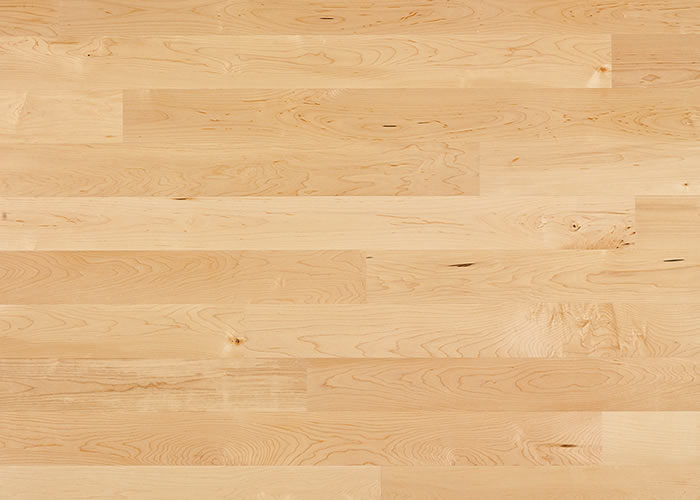 Parquet massif Erable USA - 10 x 70 mm - verni - PROMO
