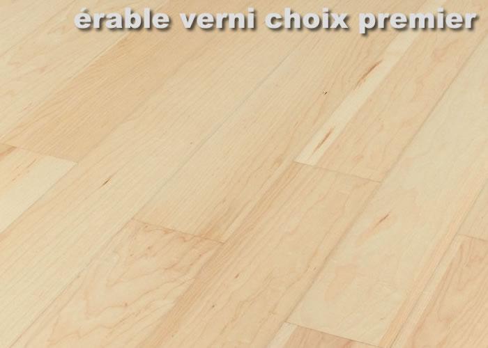 Parquet contrecollé Erable Sycomore Premier - 10 x 120 x 1200 mm - verni