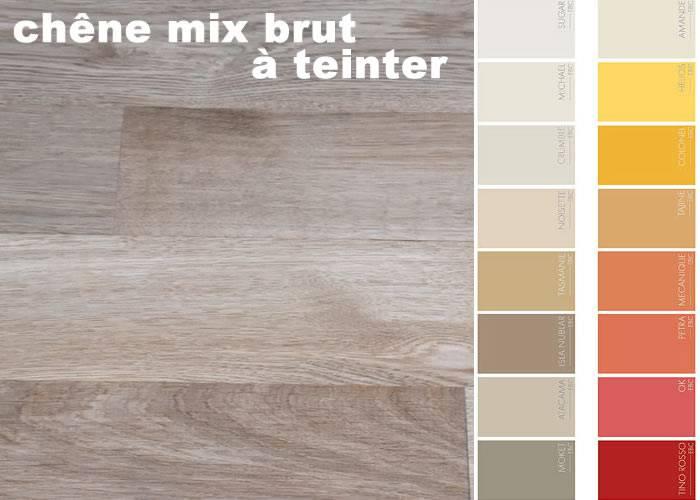 Parquet contrecollé Chêne Mix - 16 x 90 mm - brut - Colmar - PROMO