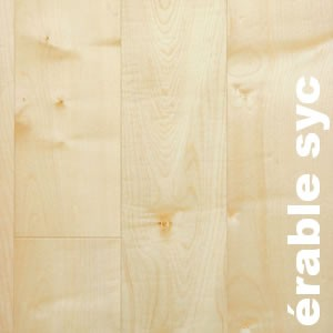 Parquets contrecollés +- 12 mm en Erable