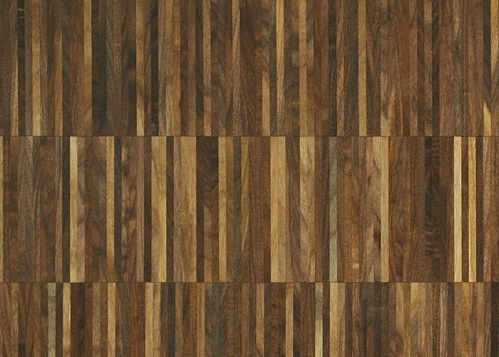 Parquet Industriel Noyer - 14 x 08 x 160 mm sur chants massif