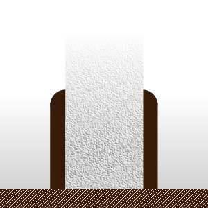 Plinthes Doussie - 10 x 70 mm - bord rond - verni mat