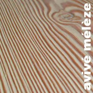 Avivé bois exotique en Mélèze de sibérie