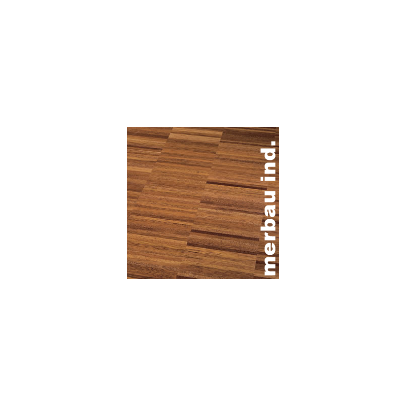 Parquet Industriel Merbau - 15 x 25 x 300 mm sur chants - Colmar