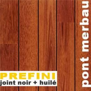 Parquet Pont de Bateau Merbau prefini - 12 x 90 mm - Mulhouse