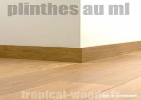 Plinthes Iroko - 16 x 95 massif finition vernis