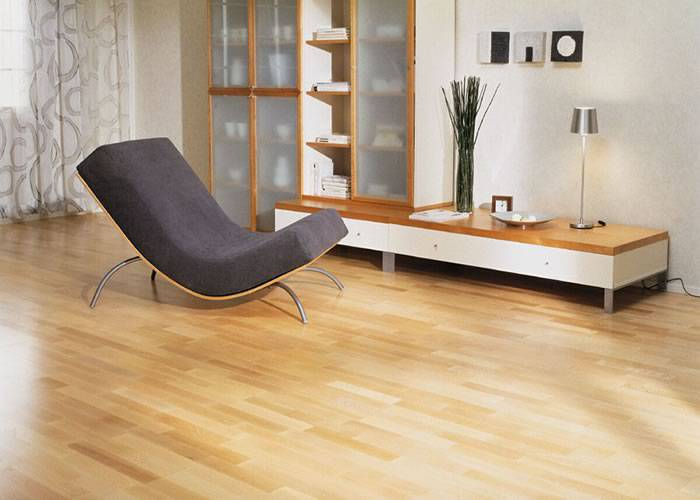 Parquet massif Hêtre Europe Select - 23 x 100 mm - Verni - Obernai