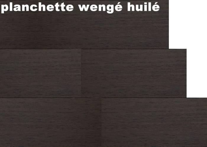 Parquet  massif planchette Wengé - 10 x 60 mm - brut - Bordeaux