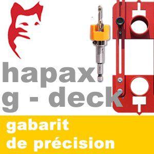 Hapax - Gabarit de précision pour vis terrasse - Hapax