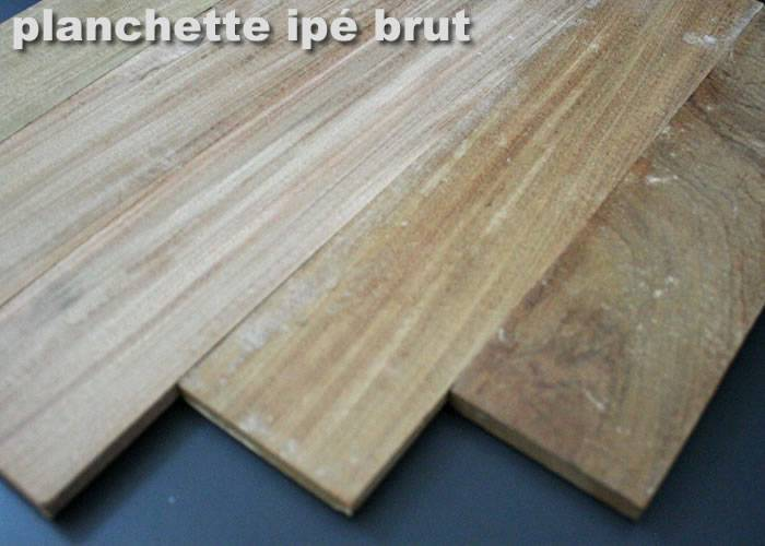 Parquet massif planchette Ipe - 10 x 60 x 300 mm - brut