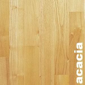 Parquet massif Acacia - 14 x 90 mm - verni mat