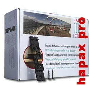 Clips Hapax Fixing Pro Vis inox C2 - fixation lame de terrasse - Kit 6 m2