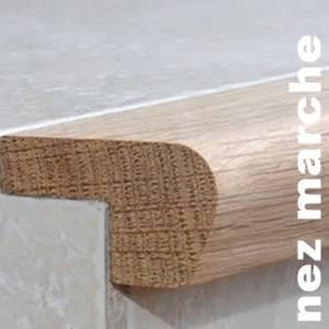 Nez de marche en Ipé - 14 / 22 x 50 x 2000 mm - Verni mat