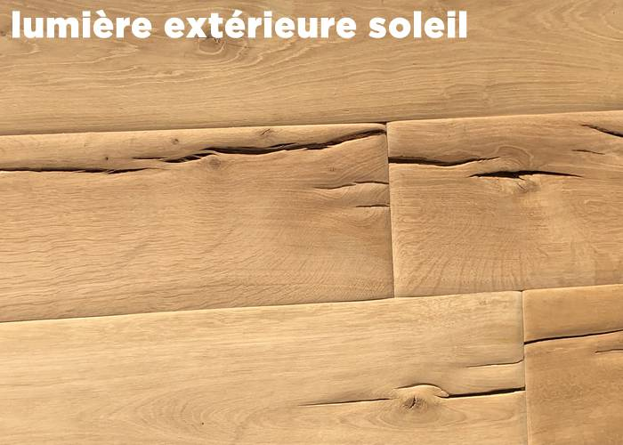 Parquet Chêne Massif Etable - 20 x 160 à 200 mm - Brut - Courchevel