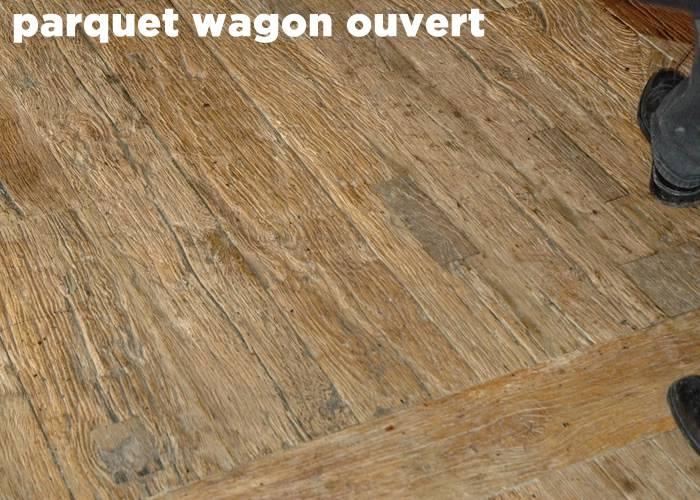 Parquet Plancher wagon de récupération Chêne WO - 21 x 160 à 220 mm - Paris