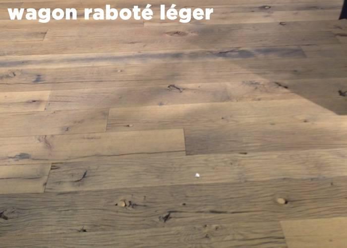Parquet Plancher massif Chêne fond de wagon Raboté Léger - 18 x 120 à 180 mm - Marseille