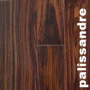 Parquet massif Palissandre - 15 x 120 mm - verni teinté unifiant