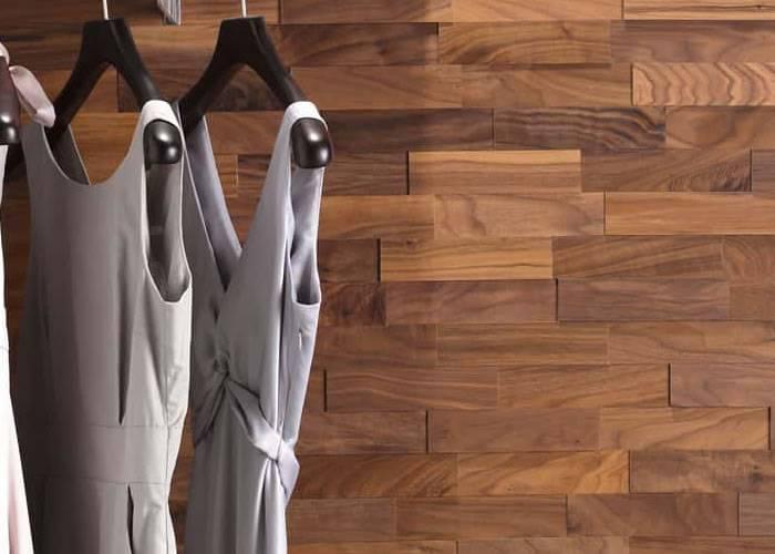 Panneau mural 3D - Noyer massif huilé - Diy Vrac