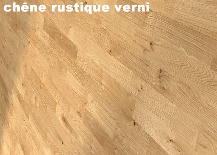 Parquet massif Chene Rustique - 15 x 70 x 400/500 mm - Brut - Bordeaux