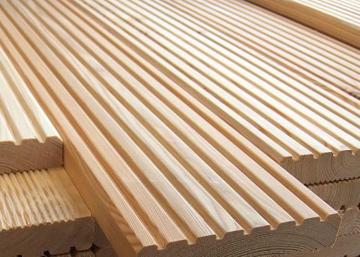 Dalle caillebotis en Méléze - 500 x 500 x 44 mm - 7 lames Lisses
