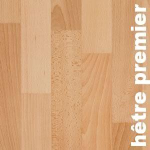 Parquet massif planchette Hêtre Premier - 10 x 60 x 300 mm - brut
