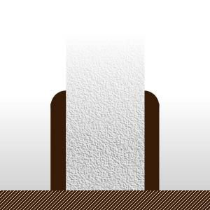 Plinthes Padouk - 14 x 100 mm - bord rond - verni mat