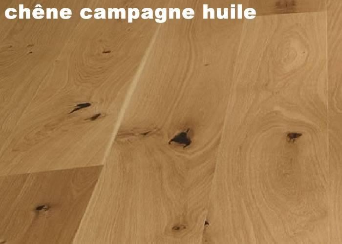Parquet Massif Chêne Campagne - 20 x 160 x 1800 mm Fixe - huilé