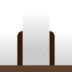 Plinthes Teck - 14 x 95/100 mm - bord rond - verni mat