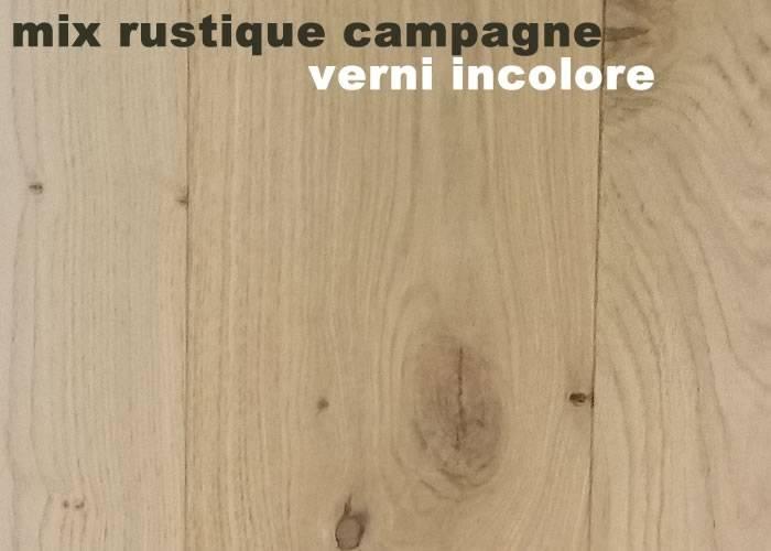 Parquet massif Chene Mix - 11 x 160 mm - Verni incolore - PROMO - Strasbourg