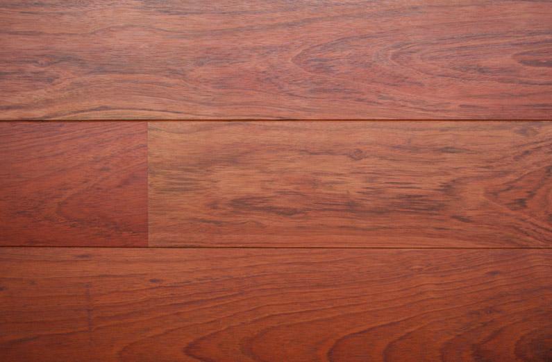 Parquet contrecollé Jatoba - 13 x 180 mm - verni