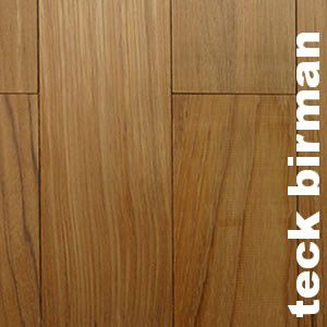Parquet contrecollé Teck Birman - 16 x 180 mm - verni